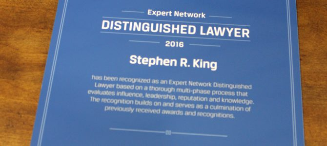 Distinguished Lawyer 2016 Stephen R. King
